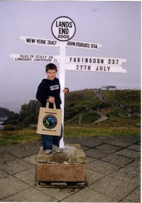 Jutebag Challenge lands End